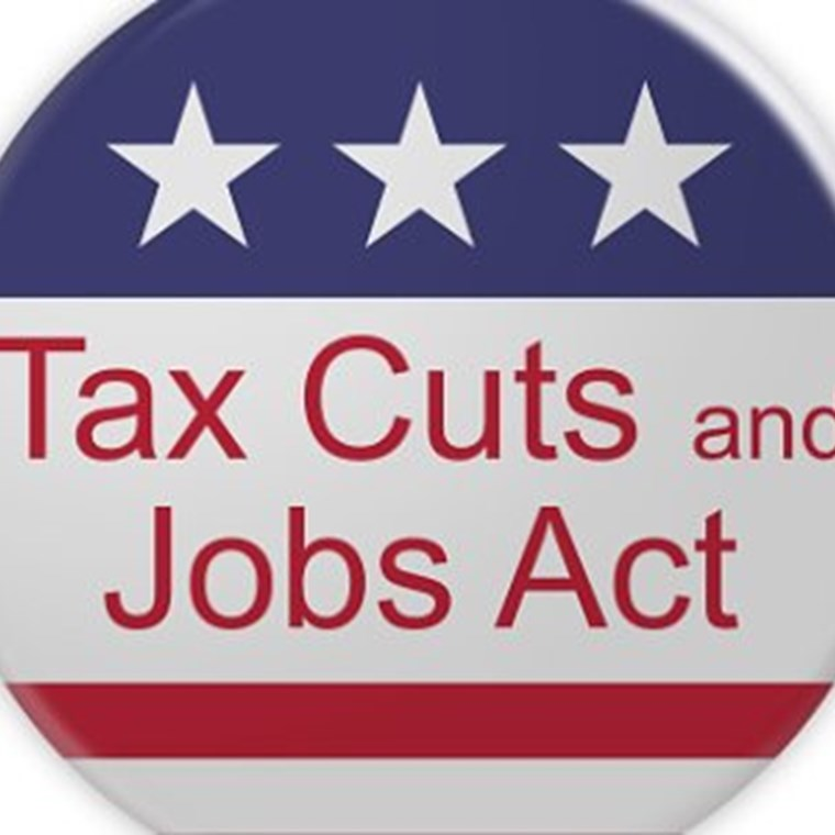 ​politics news badge tax cuts and jobs act button with us flag
